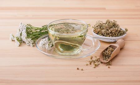 Cup with yarrow tea