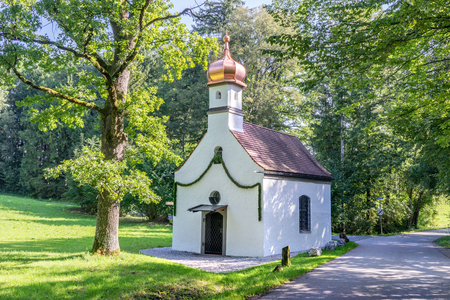 Heart jesus chapel in Schoenmuehl, Bavaria, Germany