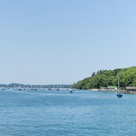 Sailing boats on the Lake Starnberg in Bavaria, Germany