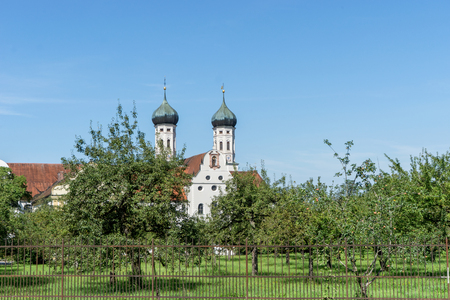 Orchard in front of Benedicts monastery in Bavaria, Germany