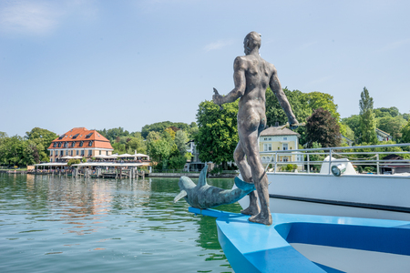 Rear view of the figurehead on the Starnberger See in Bavaria, Germany