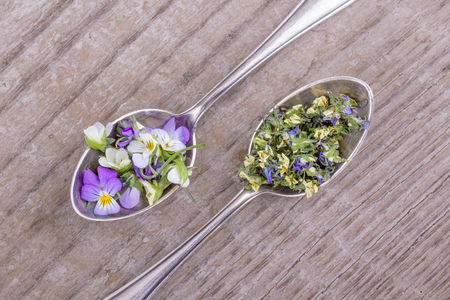 Pansy on wooden background. Stock photography Pansy on wooden background