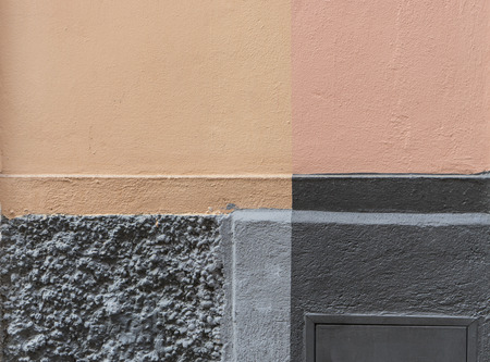 Detail of a house wall beige and gray areas Standard-Bild