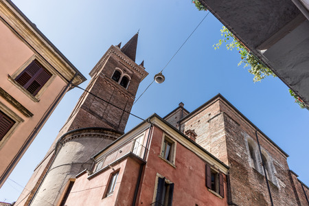 San Tomaso Becket church in Verona, Italy from below