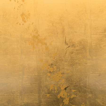 Gold-plated surface with gold leaf