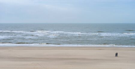 Seascape of the island of Sylt after storm