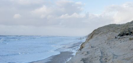 Seascape of the island of Sylt after the storm Standard-Bild