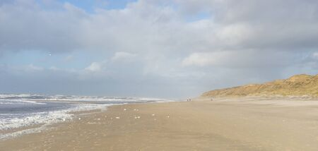 Beautiful seascape of the island of Sylt on a sunny day Standard-Bild
