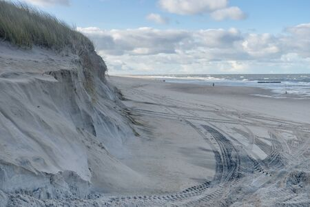 Dunes on the island of Sylt after the storm surge