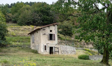 Traditional sheepfold in Tignale in Italy