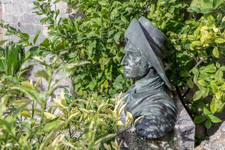 Sculpture of Johann Wolfgang Goethe in Malcesine in Italy