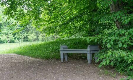 Classicist wooden bench in Goethe's garden house in Weimar