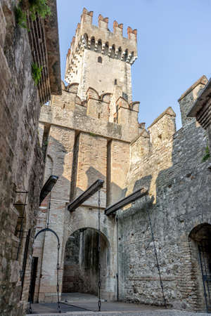 Tower of the Scaliger Castle in Sirmione in Italy