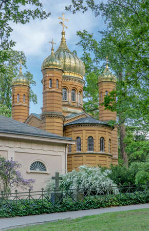 Russian Orthodox funeral chapel of Mary Pavlovna in Weimar in Germany