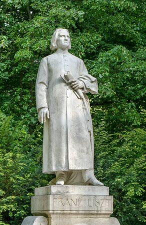 Sculpture of the composer Franz Liszt in Weimar