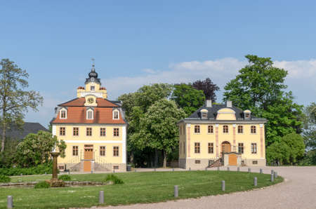 Baroque Cavalier's houses in Belvedere Palace in Weimar Editorial