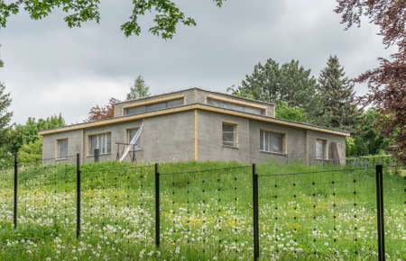 Model house of the Weimar Bauhaus by Georg Muche during the renovation work Editorial