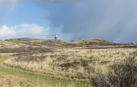 Landscape with lighthouse on the island of Sylt