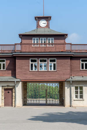 Entrance of the concentration camp Buchenwald near Weimar Editorial