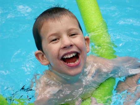 happy child in swimming pool Stock Photo - 519767