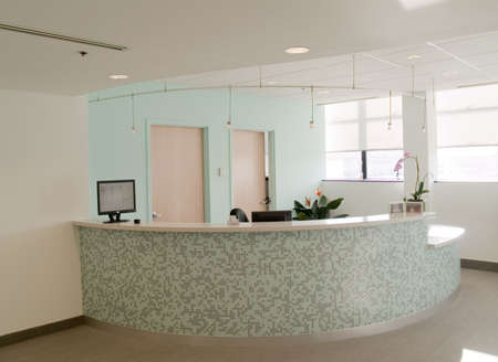 Reception desk in a medical office