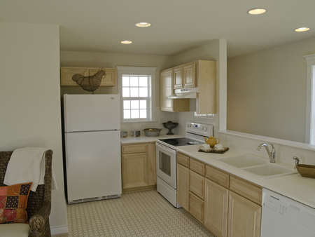 Gally kitchen in small apartment photo