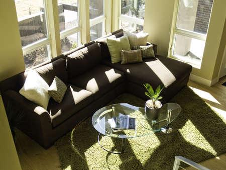 fresh looking living room 스톡 콘텐츠