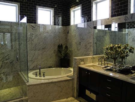 Very modern large master bath