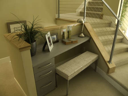townhome: small office nook Stock Photo