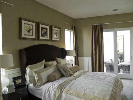 coverlet: Nice bedroom Stock Photo