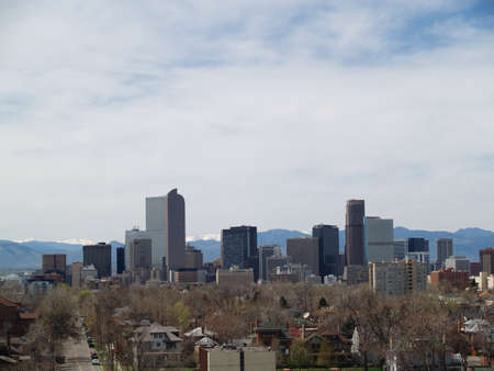Downtown, Denver, CO buildings as viewed from East to West.  The Democratic National Convention will be held in Denver in 2008.