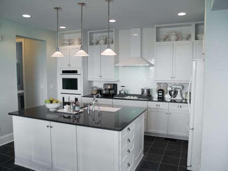 beautiful modern kitchen with center island Zdjęcie Seryjne