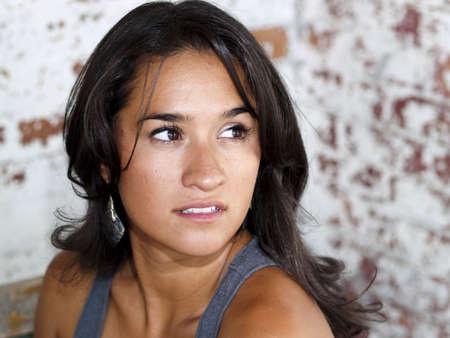 Portrait of a pretty Native American girl Banco de Imagens