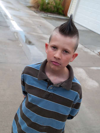 Punk kid in the ally Stock Photo