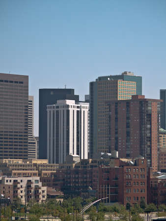 Denver Colorado Downtown from west to east