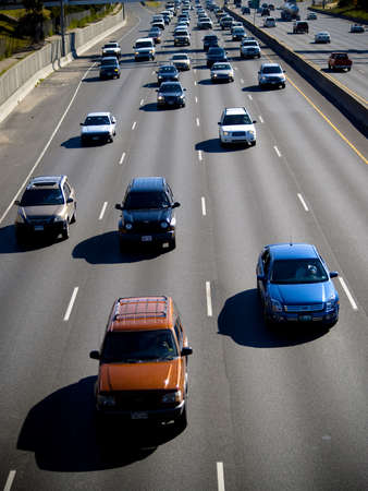 Traffic moving on the freeway Editorial
