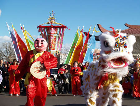 chinese new year dragon: Chinese New Year Celebration,  Denver Colorado, 2005 - Editorial Use