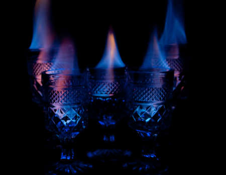 Drinks on Fire Stock Photo - 13309970