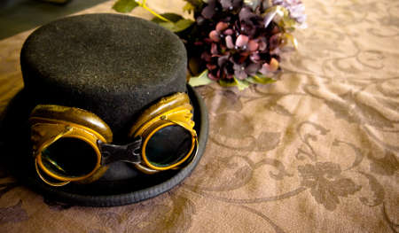 Steam punk hat with goggles photo