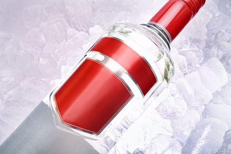 alcohol screwdriver: Alcoholic Drinks On Ice Stock Photo