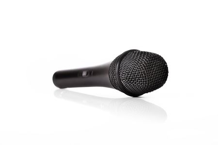 Studio Microphone on a white background photo