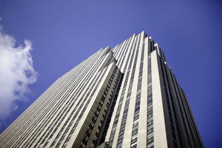New York City Rockarfeller Centre Skyscraper blue sky Stock Photo - 4714244