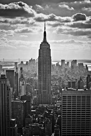 historic district: NYC skyline and the Empire State Building Editorial