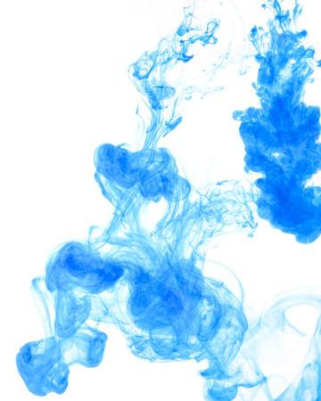 dripped: abstract ink squirted into water