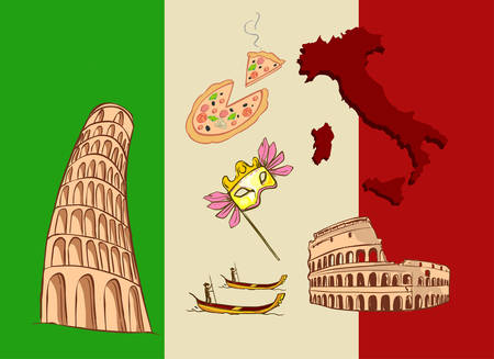 mediterranean homes: vector illustration of a Italy icon