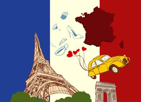 Vektor-Illustration einer Frankreich