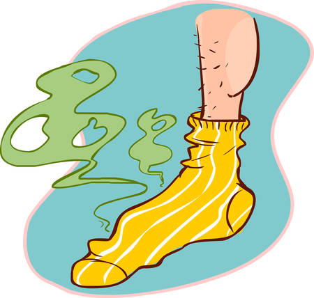 vector illustration of a stinky socks