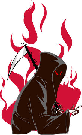 vector illustration of a grim reaper