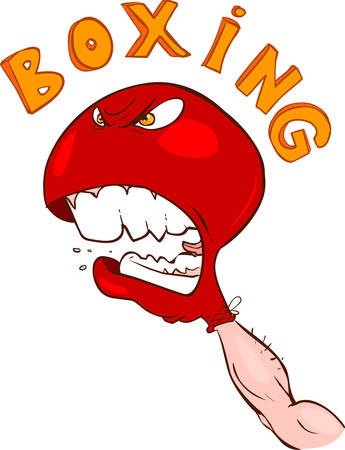 defamation: vector illustration of a angry boxing gloves Illustration