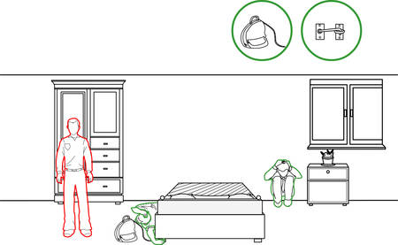 methods: vector illustration of a earthquake protection methods